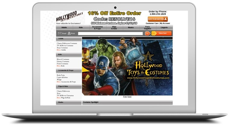 Hollywood Toys and Costumes Coupons
