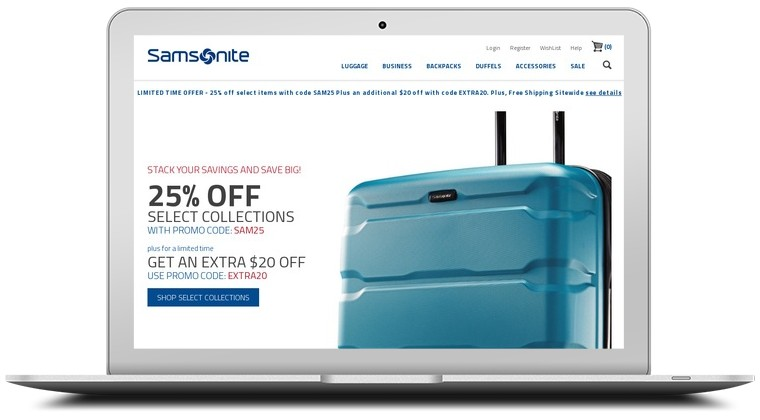 samsonite online coupon